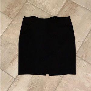 INC Stretchy black pencil skirt